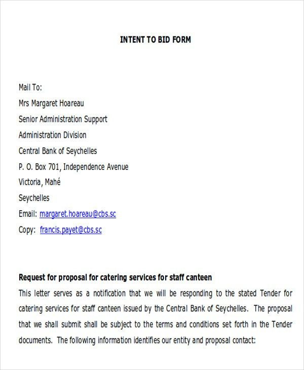 Catering Proposal Letter. Catering Proposal Template Sample ...