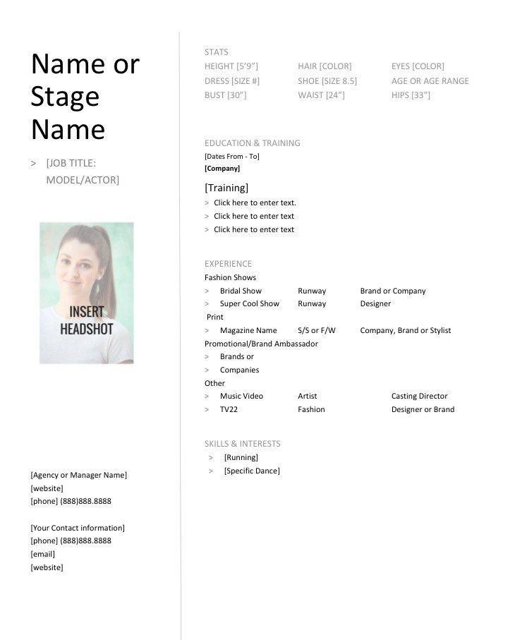 Model Resume & Tips from a Model. Does a Model Need a Resume?