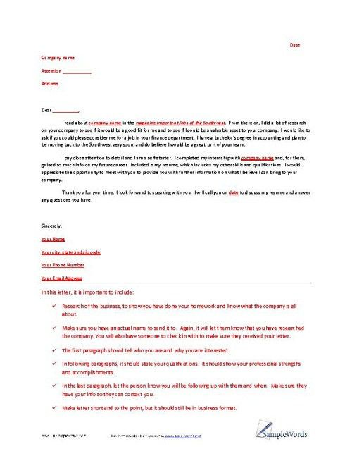 Letter of Interest Example