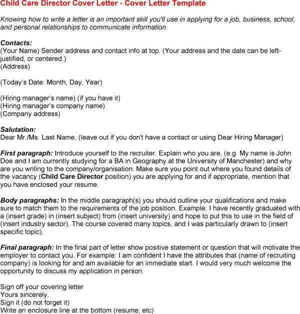 Child Care Resume Cover Letter Free Resume Templates within Child ...