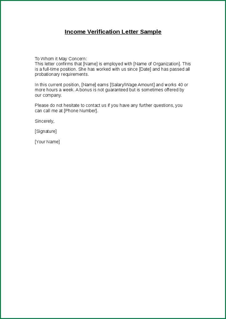 14 Salary Verification Letter | applicationsformat.info