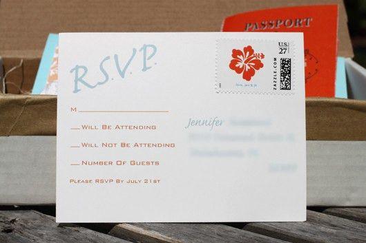 Beach Wedding - Passports and RSVP Postcards DIY - Fab Fatale