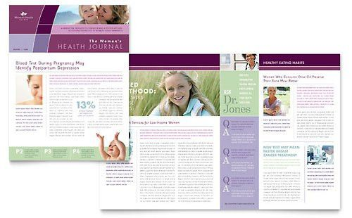Medical & Health Care - Newsletter Templates - Word & Publisher