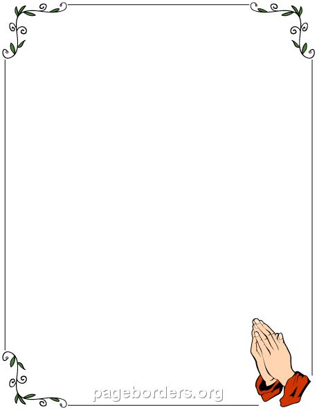 Printable prayer border. Use the border in Microsoft Word or other ...