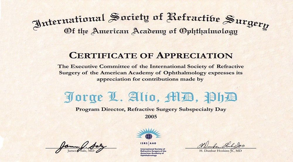 International Society of Refractibe Surgery Of American Academy of ...