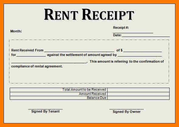 9+ rent receipts template | park-attendant