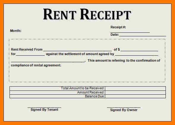 7+ rental receipt templates | park-attendant