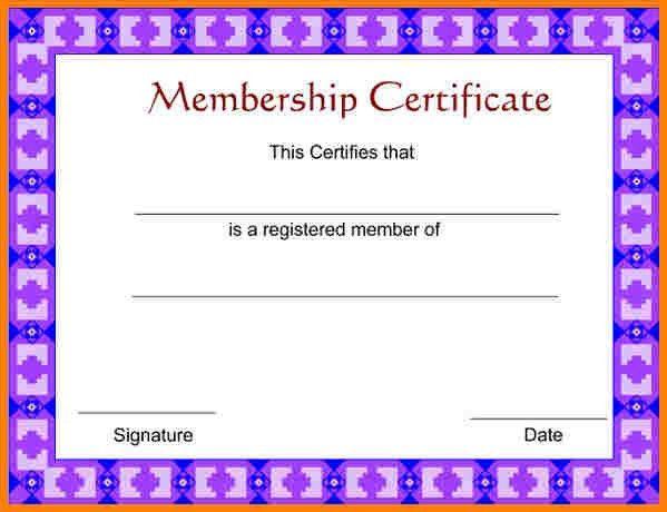 8+ free membership certificate template | sample of invoice