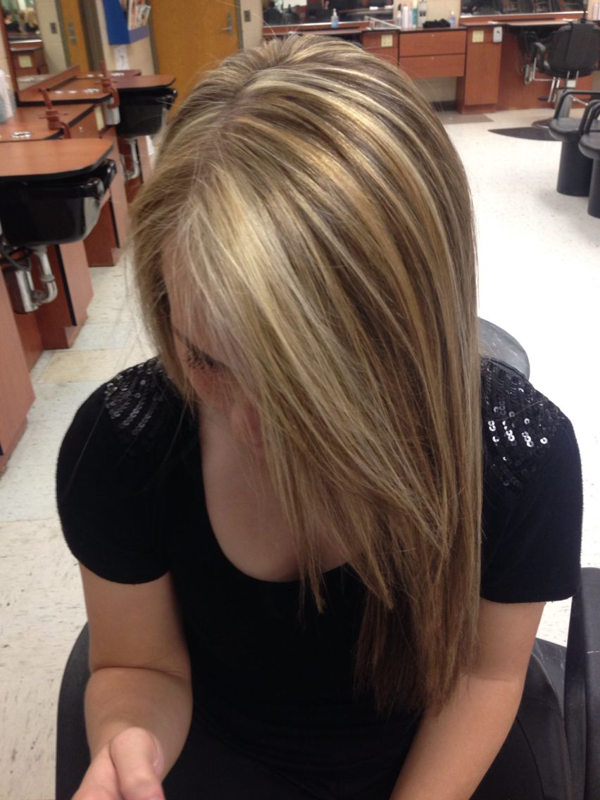 ... Painted Highlights, Chunky Highlights and Brown Hair With Lowlights