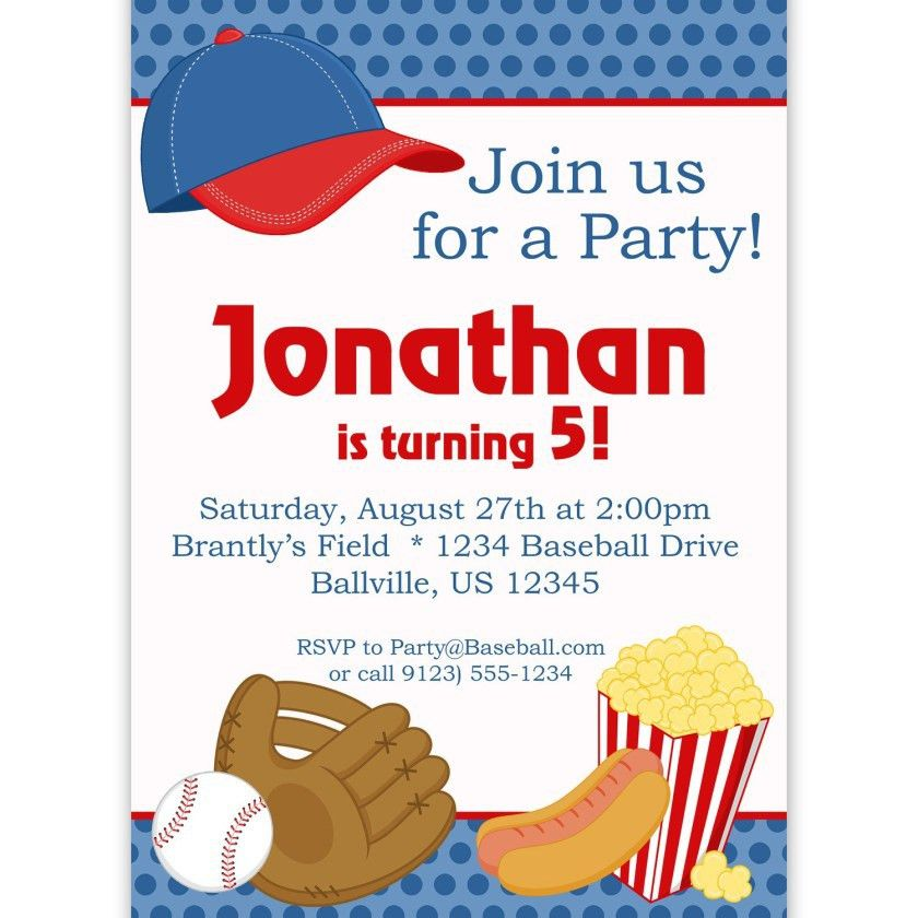 Baseball Birthday Party Invitations Templates | Invitations Templates