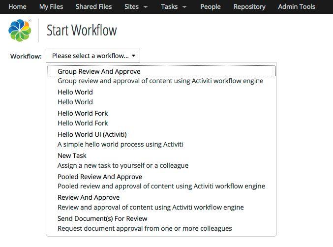 Creating Custom Advanced Workflows in Alfresco | ECM Architect ...