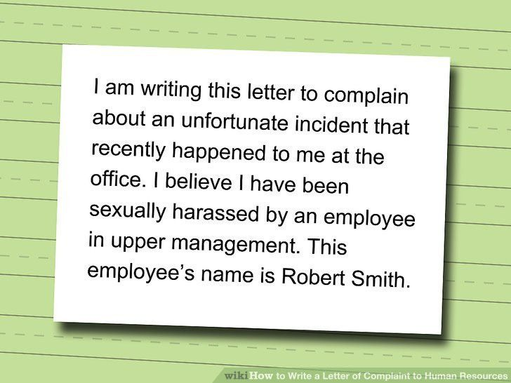 4 Ways to Write a Letter of Complaint to Human Resources - wikiHow
