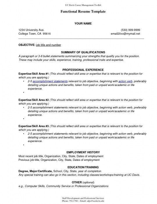 Hybrid Resume Template. Functionla Combination Resume Pdf Free ...
