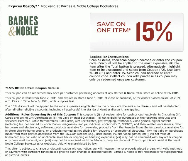 Barnes And Noble Coupon Thread Part 2 [Archive] - Page 18 - DVD ...