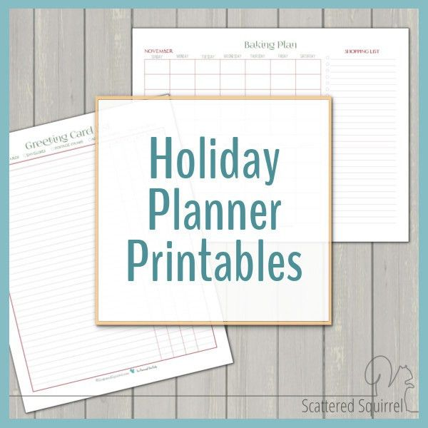 Free Printables - Scattered Squirrel