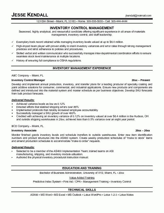 Download Warehouse Manager Resume Sample | haadyaooverbayresort.com