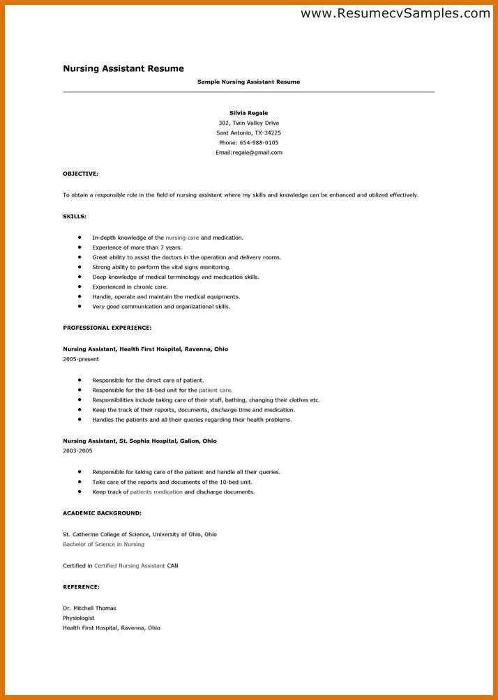 resume samples cna unforgettable nursing aide and assistant