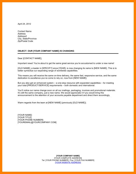 7+ change of name letter template | resume language