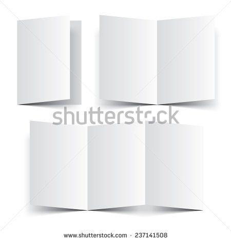 Blank Paper Template Booklet Brochure Leaflet Stock Vector ...