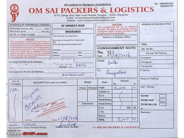 Logistics Company In Gurgaon Misuse Customer's Vehicle - DriveSpark