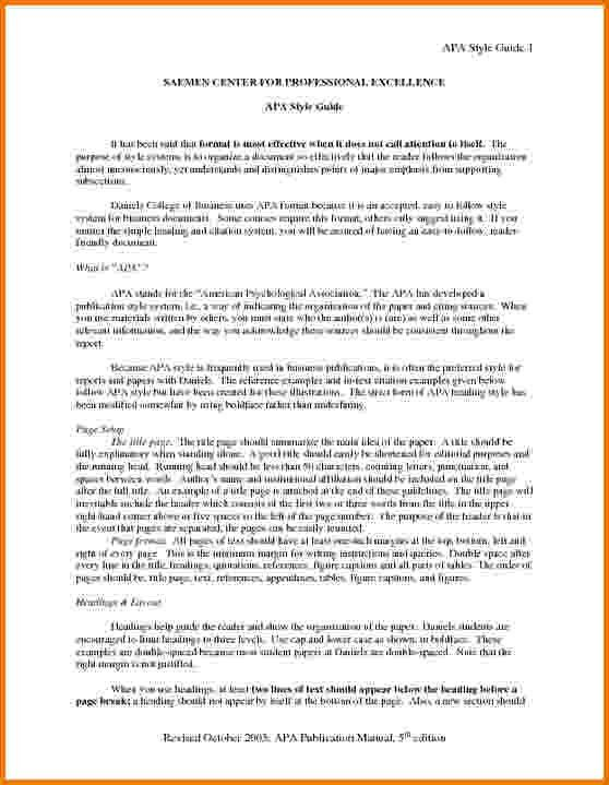 9+ executive summary template apa format | Financial Statement Form
