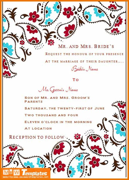 Wedding Invitations Templates Word.Wedding Invitation Template.png ...