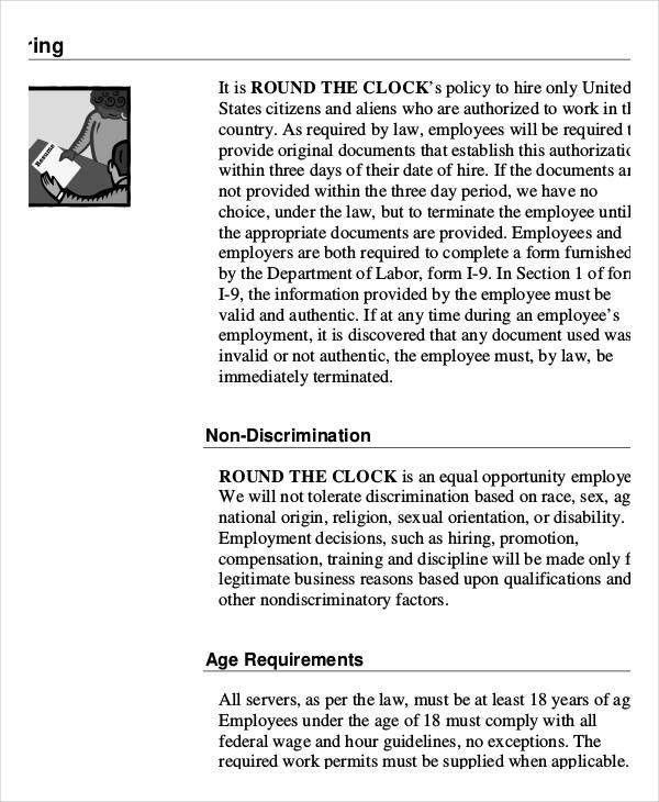 Employee Handbook Sample - 9+ Free PDF Documents Download | Free ...