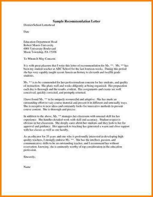 7+ sample recommendation letter for graduate student | quote templates