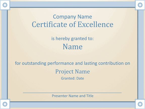 Download Employee Award Certificate Of Excellence Template Employee