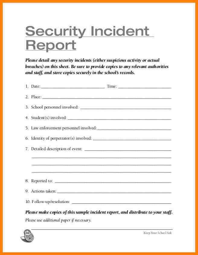 11+ security guard incident report template | farmer resume