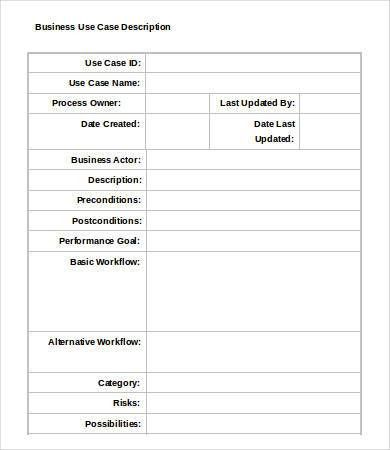 Use Case Template - 9+ Free Word, PDF Documents Download | Free ...