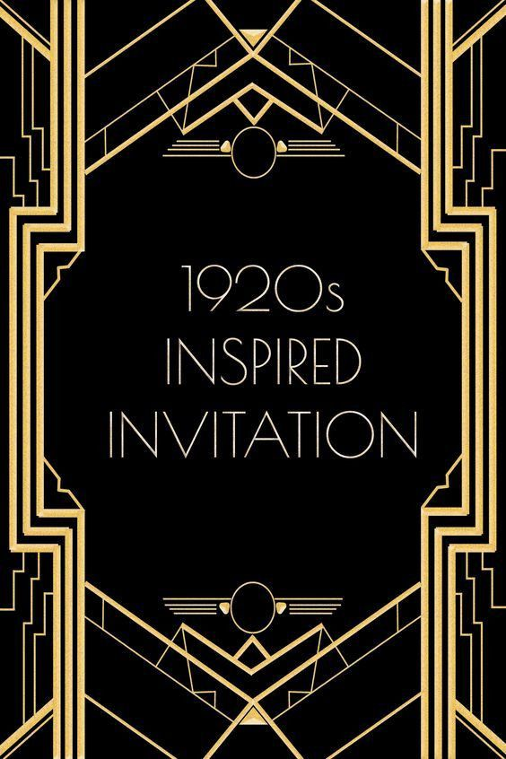 Great Gatsby Invitation Ticket Birthday by LearnFromTheMaster ...