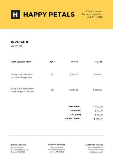 Black and White Invoice Letterhead - Templates by Canva