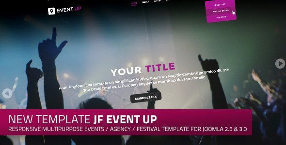JF Event Up a responsive multipurpose events and agency Joomla ...