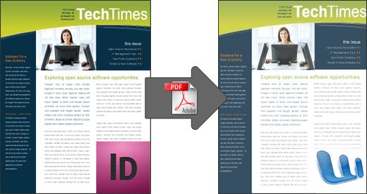 Convert InDesign files to Microsoft Word.