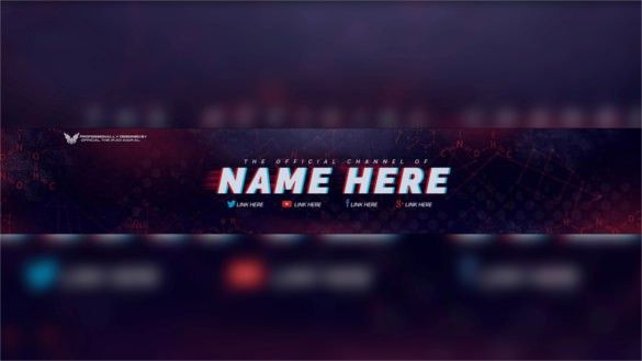 Youtube Banner Template Psd | cyberuse
