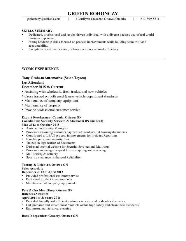 Resume- Griffin Rohonczy PDF
