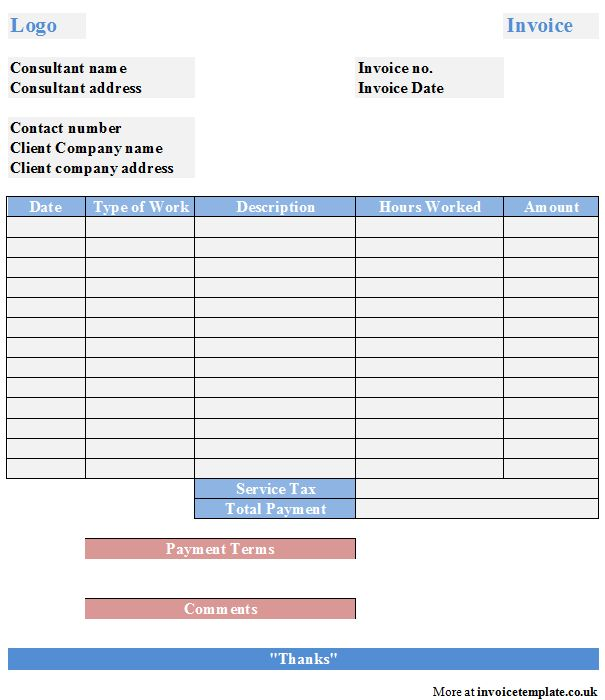 It Consultant Invoice Template - Resume Templates