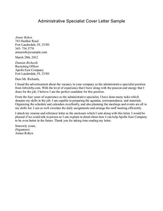 14 sample cover letter administrative assistant 13 riez sample ...
