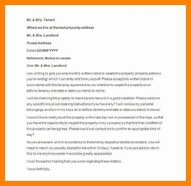 7+ notice to vacate letter | resumes great