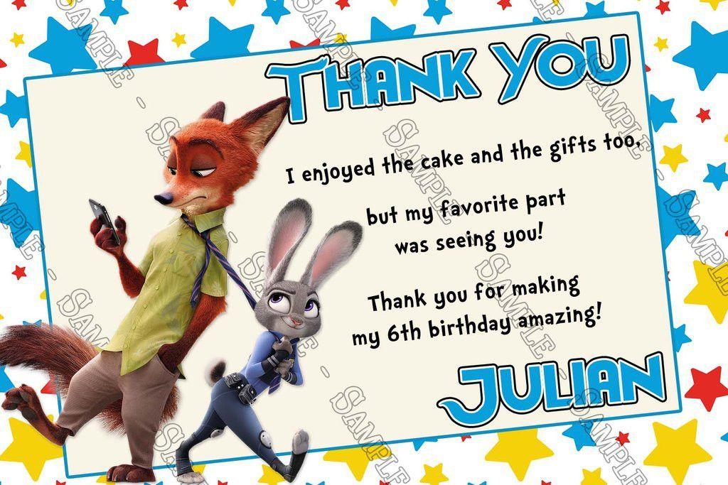 Novel Concept Designs - Disney Zootopia Movie Character Birthday ...