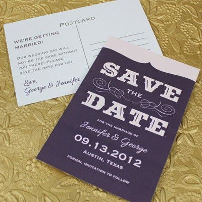 Save-the-Date Template with Retro Type – Download & Print