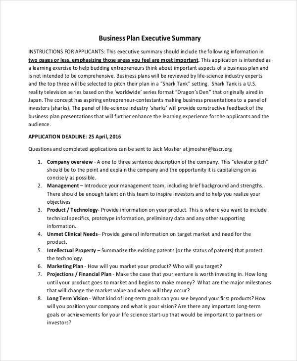 20+ Executive Summary Templates | Free & Premium Templates