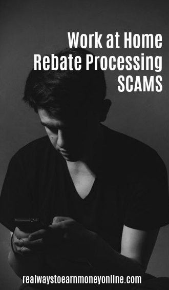 That Online Rebate Processing Job You Want? It's Probably a Scam.