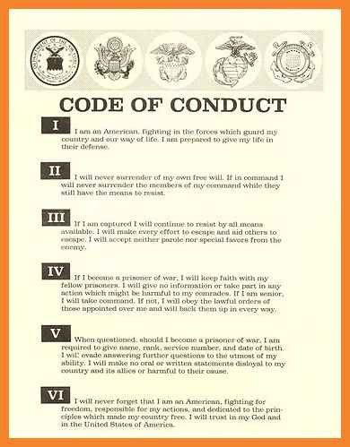 code of conduct example | bio resume samples