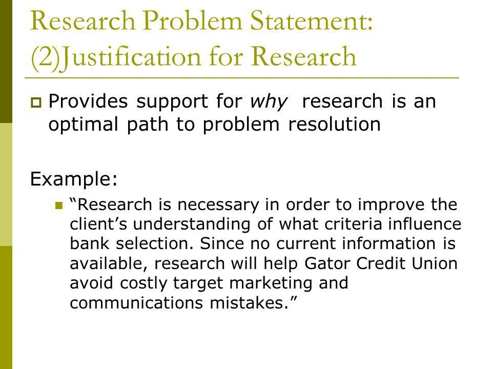 The Research Problem Statement. Research Problem  The research ...