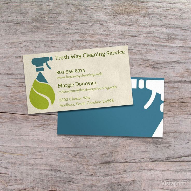 Light Brown Cleaner Business Cards | Vistaprint | Business ...