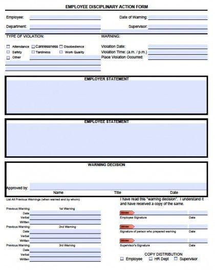 Download Employee Write-up Forms | PDF wikiDownload