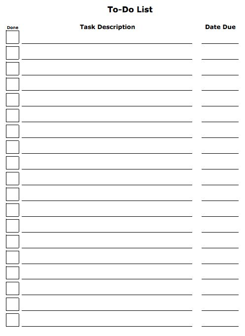 Dead Simple To-Do List Template