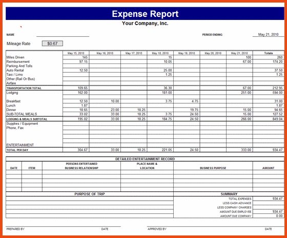 Expense Report Form.expense Report Form Example.png - Sponsorship ...